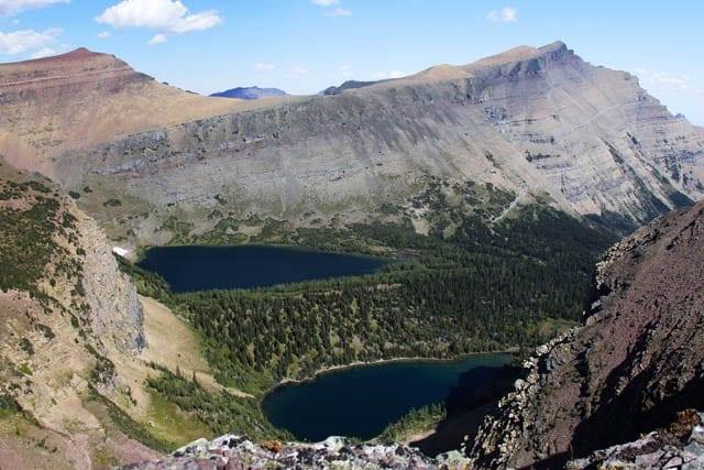 """Views from Lineham Ridge in Waterton Lakes National Park"""