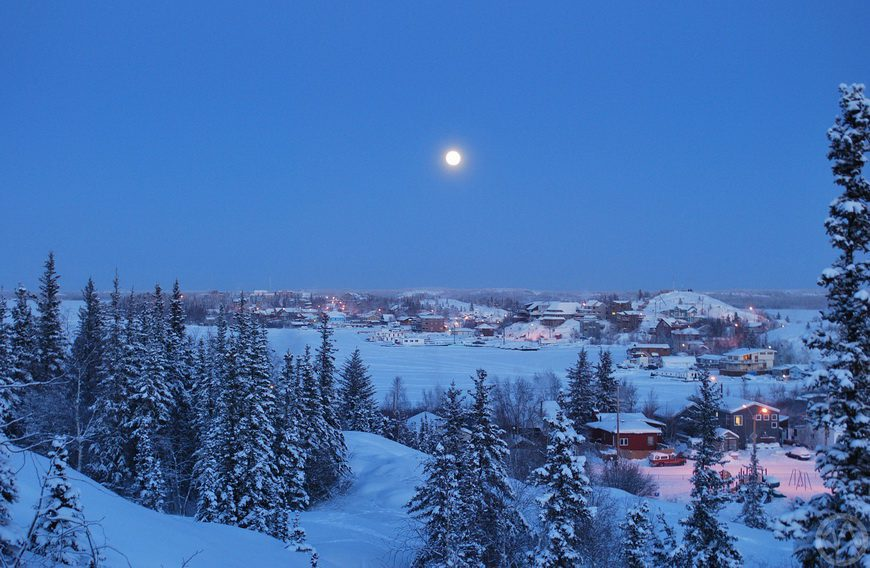 Yellowknife in winter