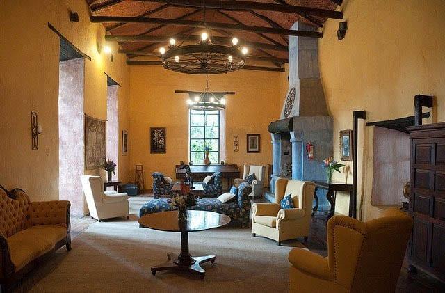 """The living room of Hacienda Pinsaqui"""