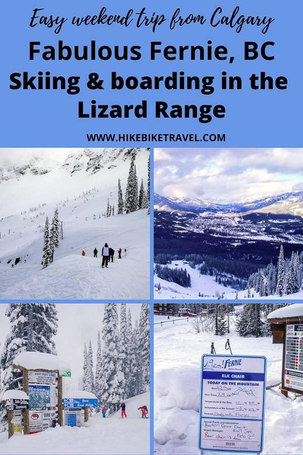 Skiing & boarding in Fernie, BC - in the fabulous Lizard Range of mountains
