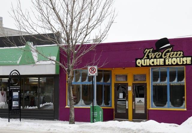 """One of the locally run restaurants - Two Gun Quiche House"""
