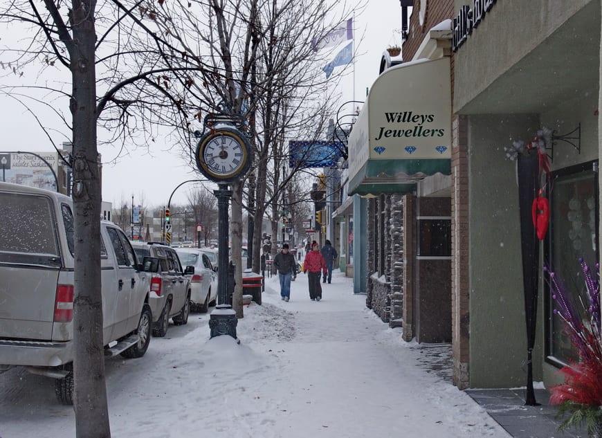 The vibrant Broadway area in Saskatoon