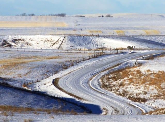 """The back roads of Alberta's prairies"""