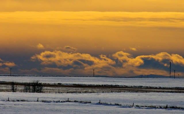 """Beautiful winter prairie sky"""