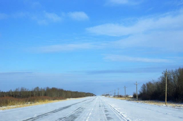 """""""Blue skies and sunshine greeted us an hour into the drive"""""""
