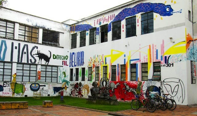 """Unbelievable amount of graffiti covered all building at the sprawling National University"""