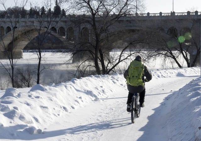 """A cyclist on a -25 C day in Saskatoon"""""""