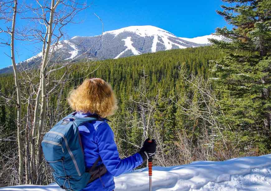 You get some good views of the Nakiska Ski Resort