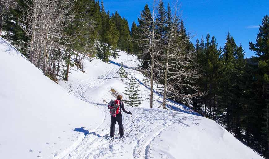 The climbing continues to Skogan Pass