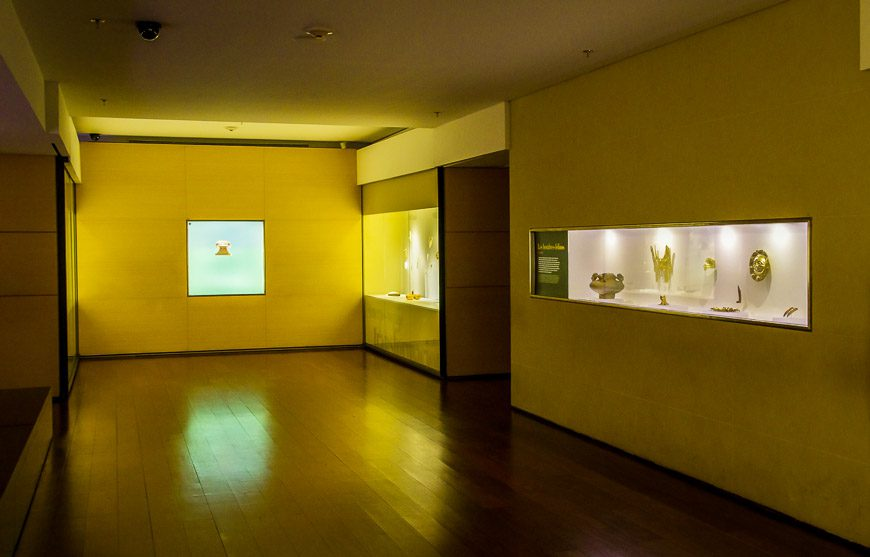 The Museo del Oro boasts beautifully lit displays