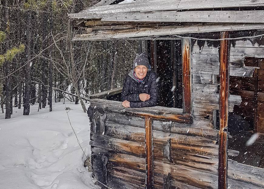It's rickety inside the cabin