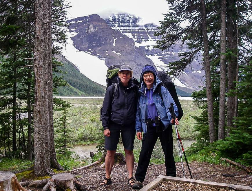 Berg Lake trail hike in July