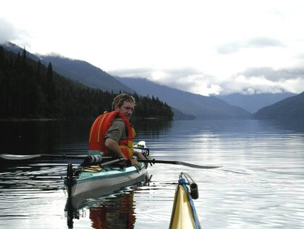 """Paddling down Isaac Lake - the longest and deepest in the circuit"""