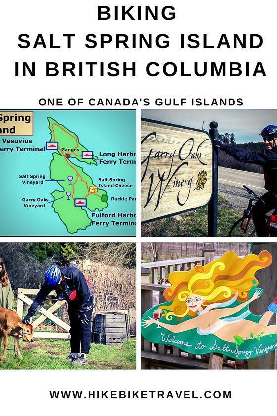 Cycling Salt Spring Island in BC