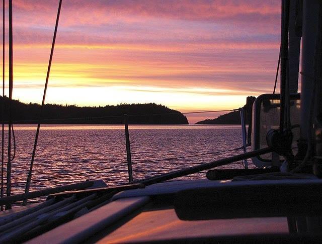 """Sunset off of Jedediah Island"""