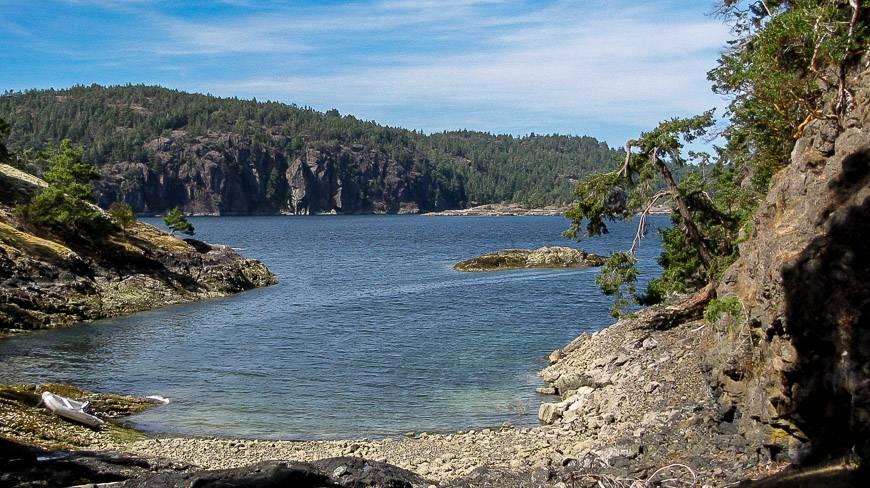 Beautiful west coast scenery around Lasqueti Island