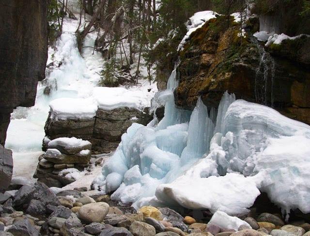 """Blue ice falls"""
