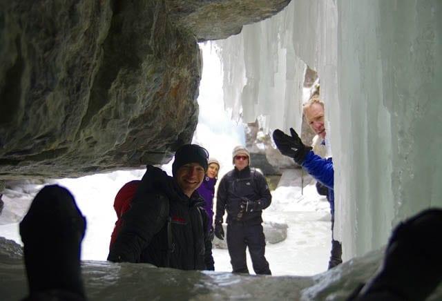 """sliding on ice through a cave"""