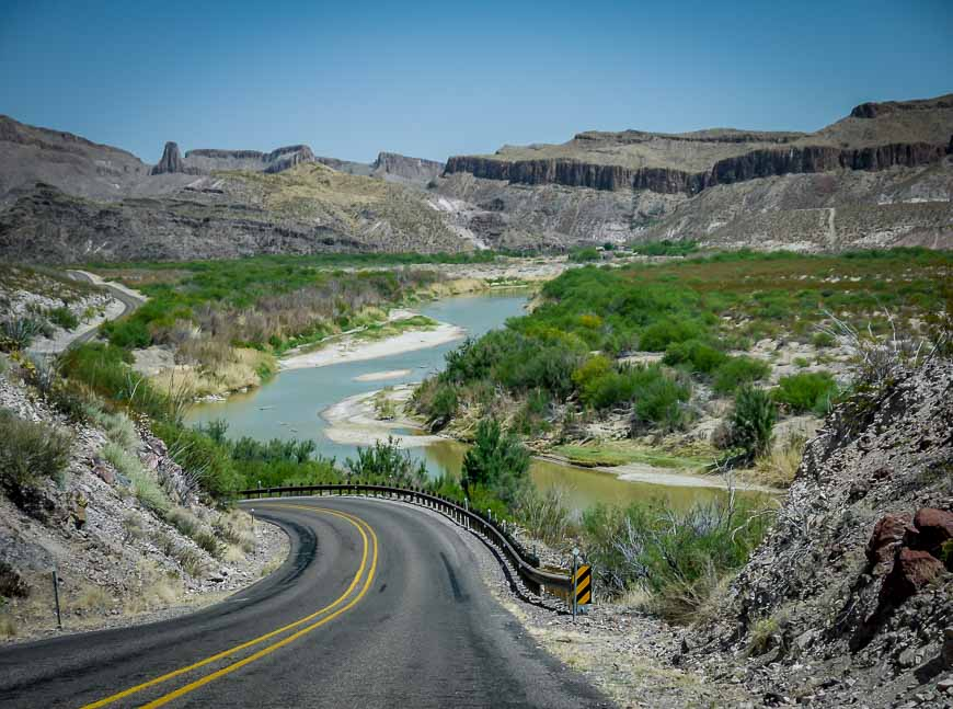 A Very Scenic Section Of Highway 170 In West Texas
