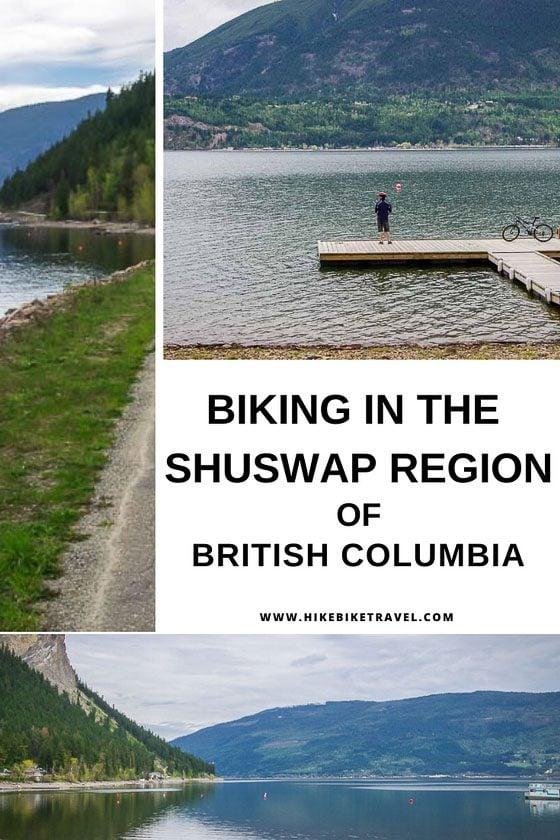 Biking in the Shuswap region of British Columbia