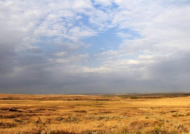 """The big skies you get in Grasslands NP"""