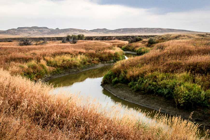 Beautiful scenes on the Riverwalk Trail in Grasslands