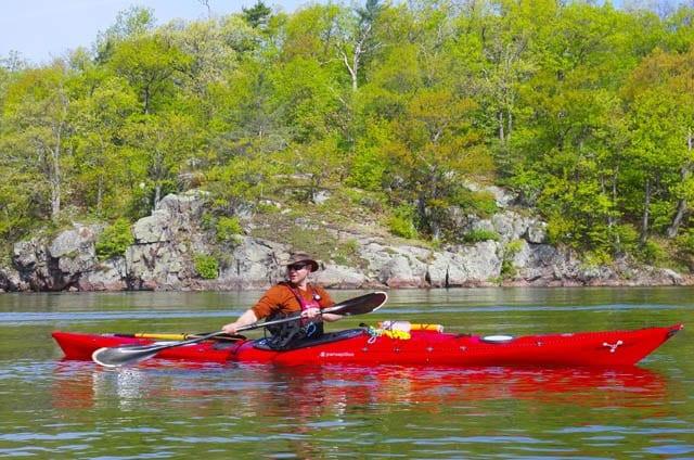 Scott - demonstrating kayak strokes