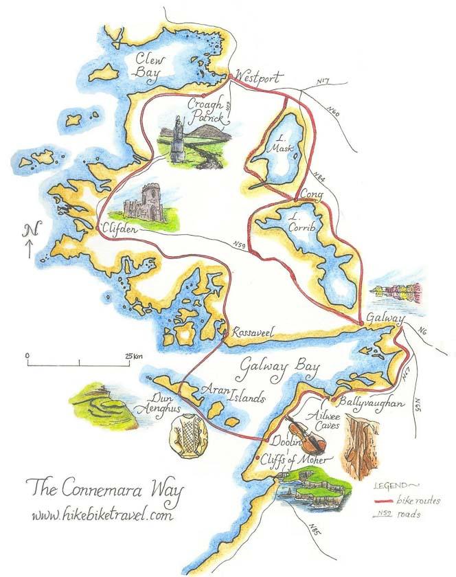 Map of Connemara