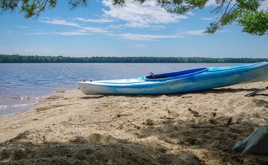Sandy beaches on Lake Kejimkujik