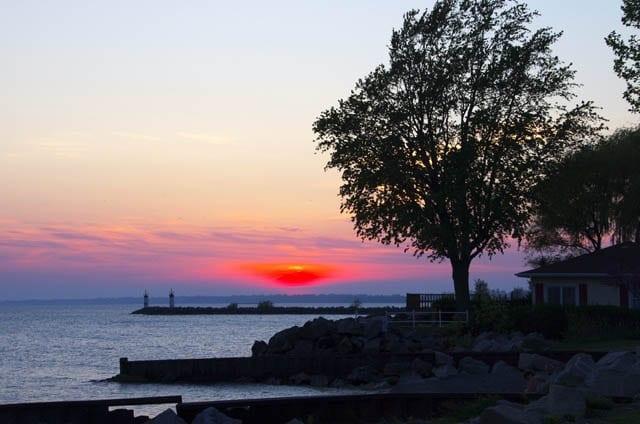 """Brilliant Lake Erie sunset"""