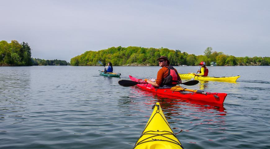 Kayaking Thousand Islands