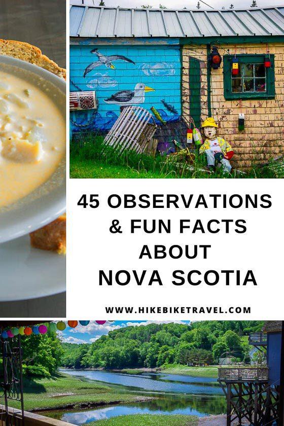 45 observations & fun facts about Nova Scotia