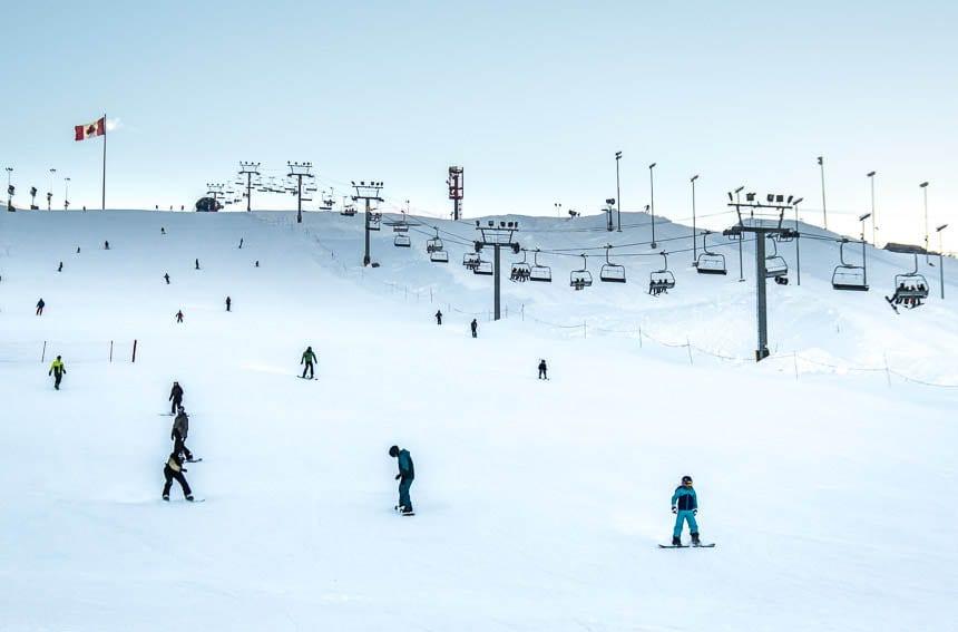 Skiing in Calgary at COP