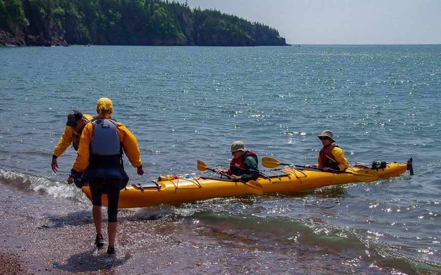 The guides made the landings when you're kayaking the Bay of Fundy easy - and dry