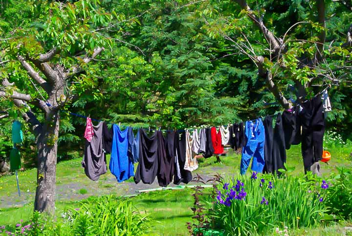 Laundry drying outside