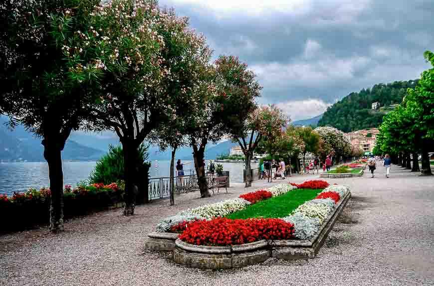 The promenade in Bellagio