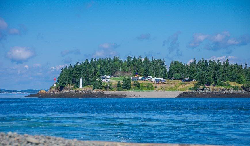 Leaving Deer Island for Campobello Island