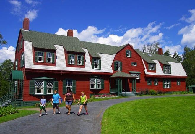 """President Franklin Roosevelt's summer home on Campobello Island"""