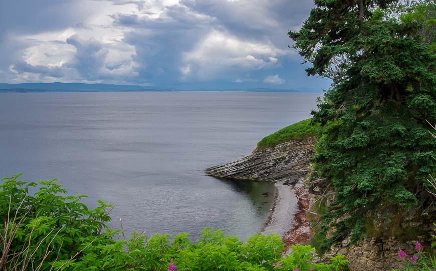 Interesting rocks along the shoreline