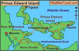 A map of Prince Edward Island