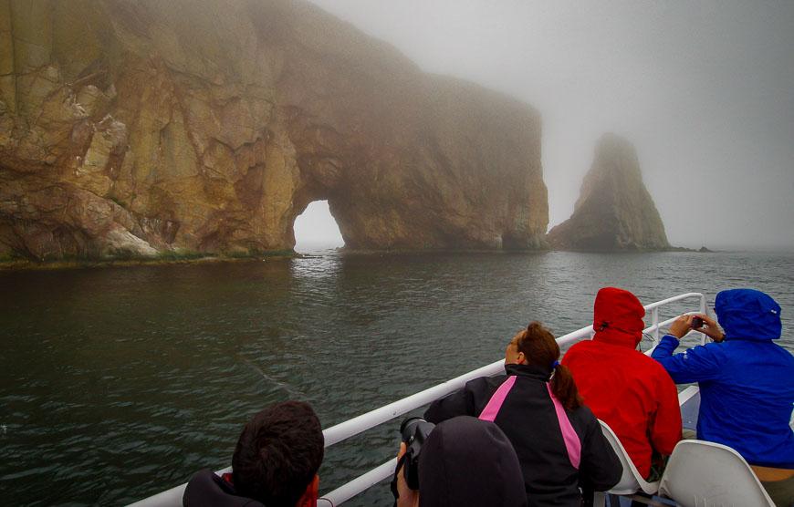 Percé Rock in the fog