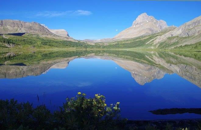 """The view down Baker Lake"""