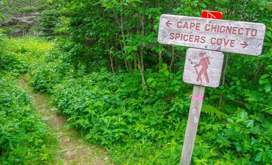 Some signage around in Cape Chignecto Park