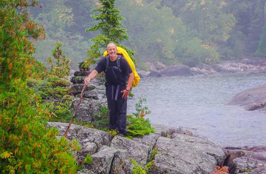 VERY slippery rocks on the Coastal Trail