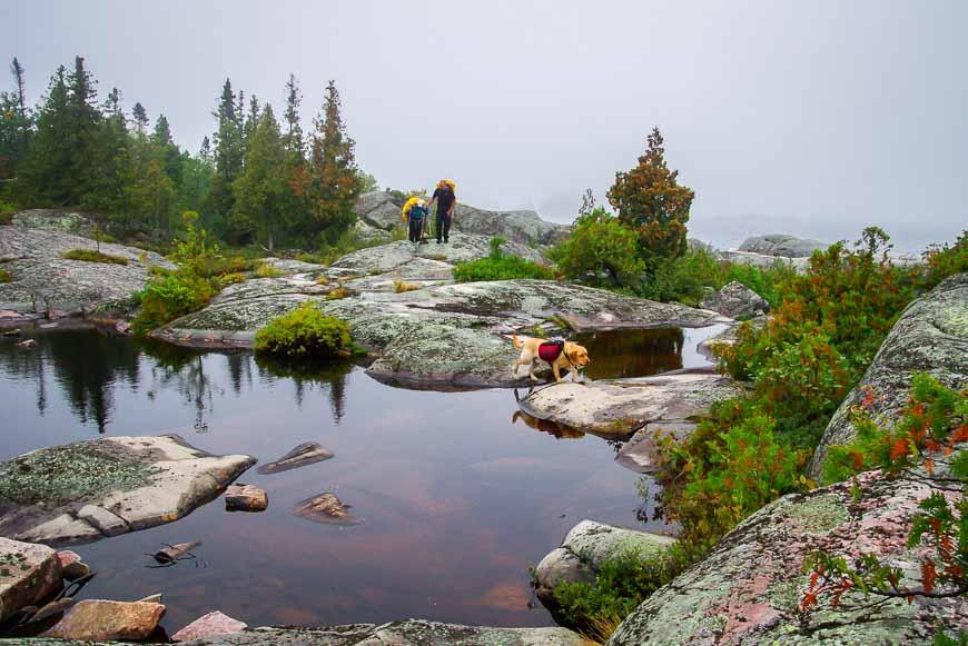 Beautiful ponds on a ledge above Lake Superior