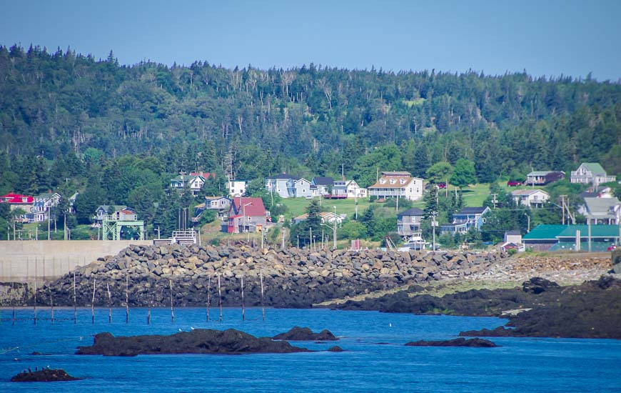 The northern end of Grand Manan is more populated - and less foggy