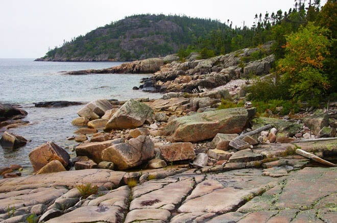 """Lake Superior rocky coastline"""