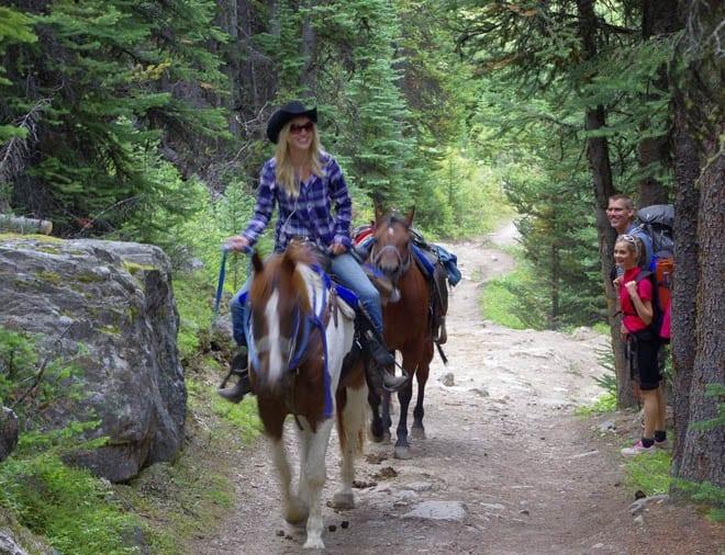 """Skoki Lodge gets supplies via horses"""