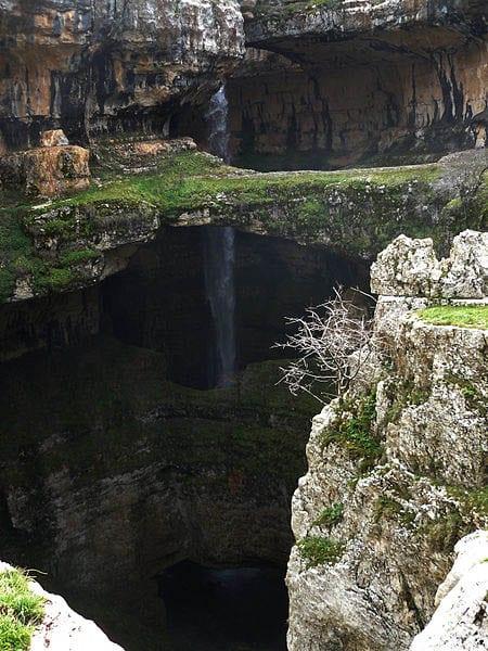 """""""The Baatara Gorge Waterfall in Lebanon"""""""