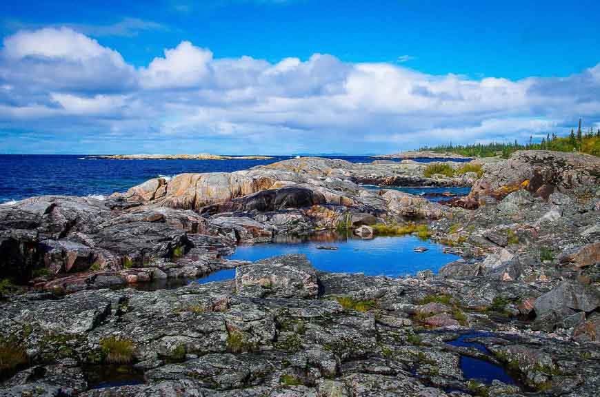 Classic Lake Superior shoreline